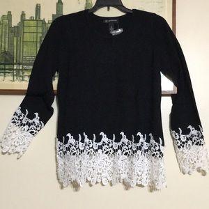 Sweaters - Inc Sweater Tunic w/Lace